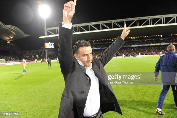 Joie Christophe GALTIER - - Lyon / Saint Etienne - 7eme journee de Ligue 1 - Stade Gerland -