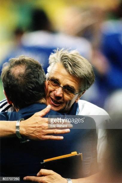 Joie d'Aime JACQUET / Gerard HOULLIER France / Bresil Finale de la Coupe du Monde 1998 France