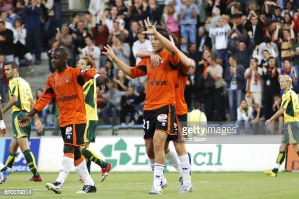 Joie de Andre Pierre GIGNAC Lorient / Nantes 4eme Journee de Ligue 1