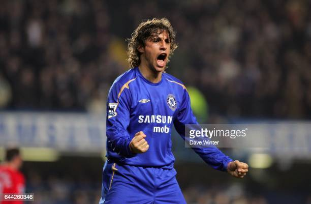 Joie de Hernan CRESPO Chelsea / Liverpool 25eme journee de Premier League Photo Dave Winter / Icon Sport
