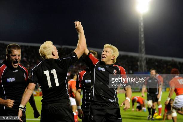 Joie de Phil MACKENZIE / Dth VAN DER MERWE Tonga / Canada Coupe du Monde de Rugby 2011