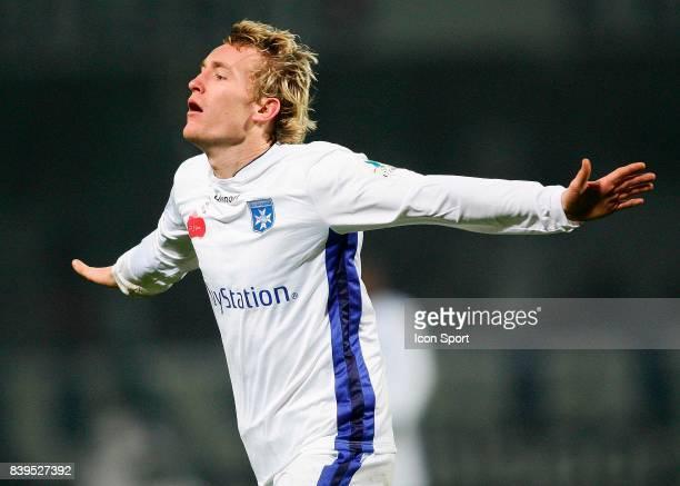 Joie de Thomas KAHLENBERG Auxerre / Monaco 20eme journv⌐e de Ligue 1