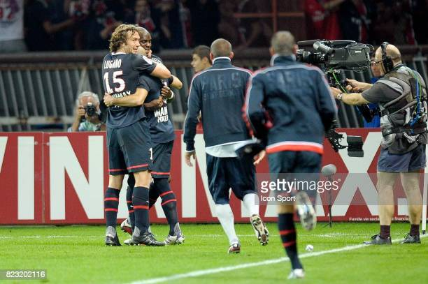 Joie Diego LUGANO / Christophe JALLET Paris Saint Germain / Lyon 9e journee Ligue 1