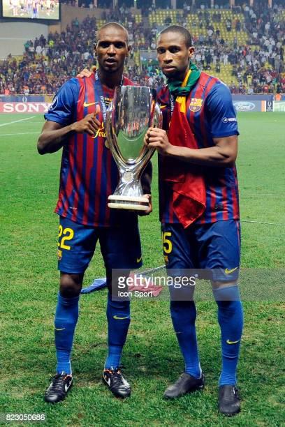 Joie Eric Abidal / Seydou Keita Barcelone / Porto Supercoupe d'Europe 2011 Stade Louis IIMonaco