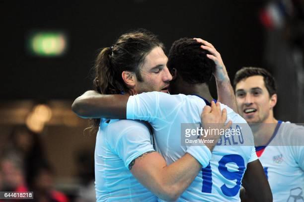 Joie France - Bertrand GILLE et Luc ABALO - - France / Suede - Finale Handball - Jeux Olympiques 2012 - Londres - Photo: Dave Winter / Icon Sport.