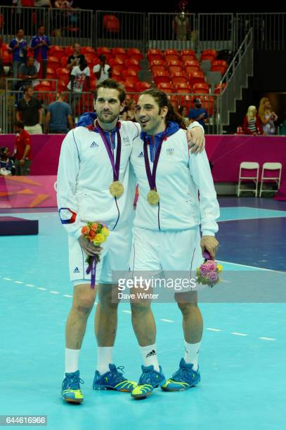 Joie France - Guillaume GILLE / Bertrand GILLE - - France / Suede - Finale Handball - Jeux Olympiques 2012 - Londres - Photo: Dave Winter / Icon...