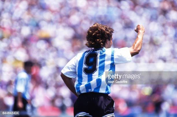 Joie Gabirel Batistuta Argentine / Roumanie 1/8emeFinale Coupe du Monde 1994 Photo Alain Gadoffre / Icon Sport