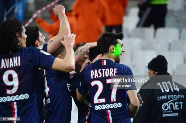 Joie Javier PAstore / laser Marseille / Paris Saint Germain 31eme journee de Ligue 1 Photo Dave Winter / Icon Sport