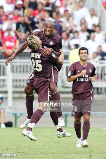 Joie Jerome ROTHEN / Fabrice PANCRATE / Pierre Alain FRAU Lyon / Paris Saint Germain Trophee des Champions 2006 Stade Gerland Lyon Raphael Vergnaud /...