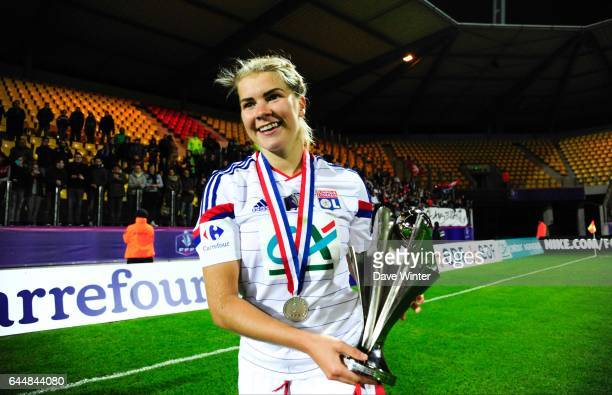 Joie Lyon Ada HEGERBERG Montpellier / Lyon Finale Coupe de France Calais Photo Dave Winter / Icon Sport