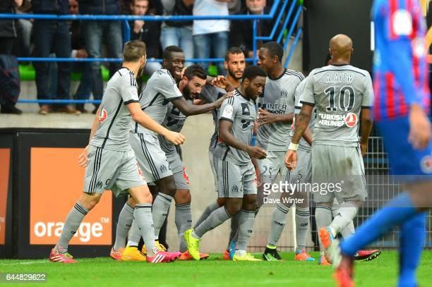 Joie Marseille / Alaixys ROMAO Caen / Marseille 9eme journee de Ligue 1 Photo Dave Winter / Icon Sport