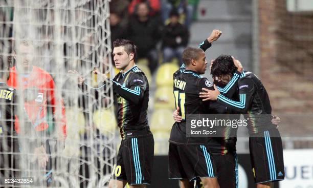 Joie Marseille Andre Pierre GIGNAC Loic REMY / Lucho GONZALEZ Zilina / Marseille Champions League 2010/2011