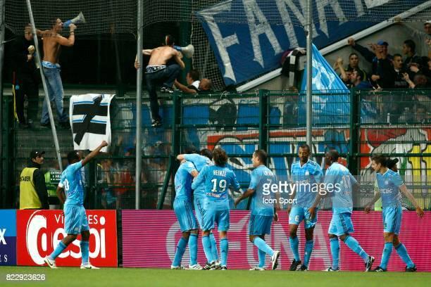 Joie Marseille apres le but de Andre Pierre GIGNAC û Saint Etienne / Marseille 8e journee de Ligue 1 Stade Geoffroy Guichard