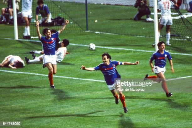 Joie Michel PLATINI - - France / Portugal - 1/2 Finale du Championnat d'Europe en France, Photo : Alain de Martignac / Icon Sport