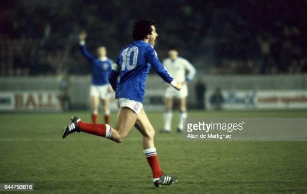 Joie Michel PLATINI France / Grece Match Amical Photo Alain de Martignac / Icon Sport