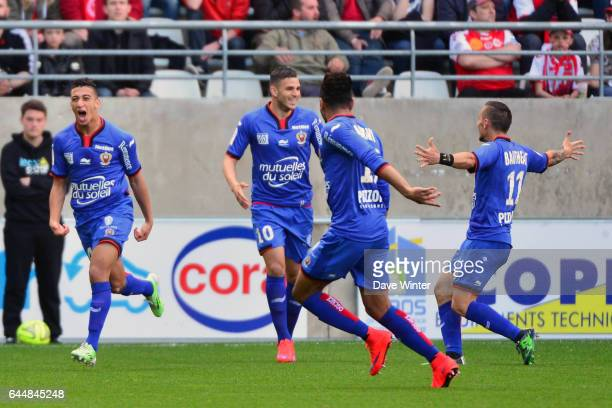 Joie Mohamed Said BENRAHMA Reims / Nice 32eme journee de Ligue 1 Photo Dave Winter / Icon Sport