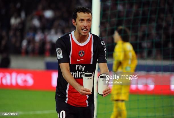 Joie NENE PSG / Ajaccio 26eme journee de Ligue 1 Photo Dave Winter / Icon Sport