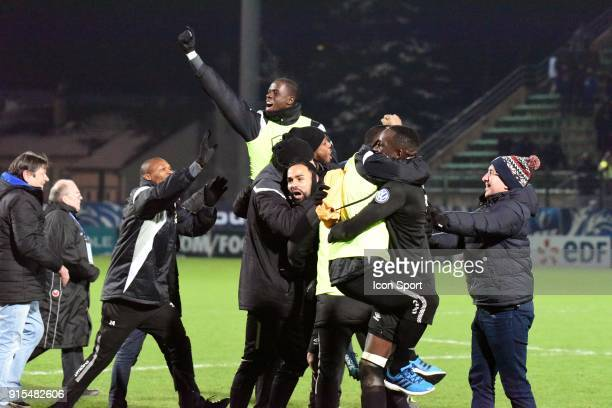 Joie of Fc chambly after the French Cup match between Chambly and Granville on February 7 2018 in Beauvais France Photo by Stephane Valade / Icon...