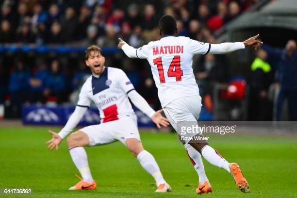 Joie PSG Blaise MATUIDI Bayer Leverkusen / Paris Saint Germain 1/8emeFinale Aller Ligue des Champions Photo Dave Winter / Icon Sport