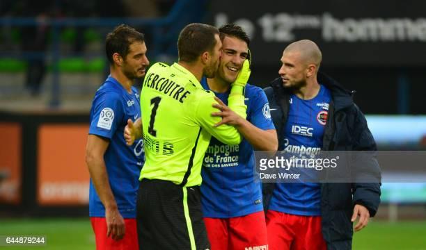 Joie Remy VERCOUTRE / Andy DELORT Caen / St Etienne 9e journee de Ligue 1 Photo Dave Winter / Icon Sport
