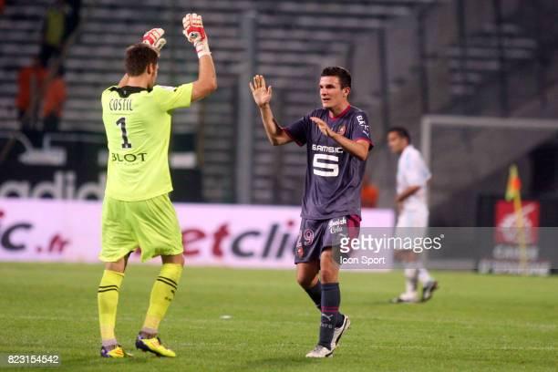 Joie Rennes Benoit COSTIL / Romain DANZE MArseille / Rennes 5eme journee de Ligue 1