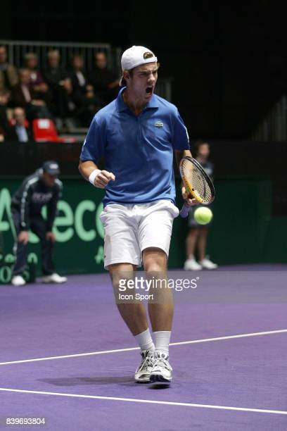 Joie Richard GASQUET France / Roumanie 1er tour Coupe Davis Clermont Ferrand