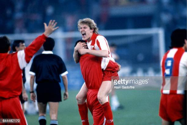 Joie ROBERT PROSINECKI - - Marseille / Etoile Rouge Belgrade - Finale Coupe d'Europe des Clubs Champions - Bari, Photo : Alain Gadoffre / Icon Sport