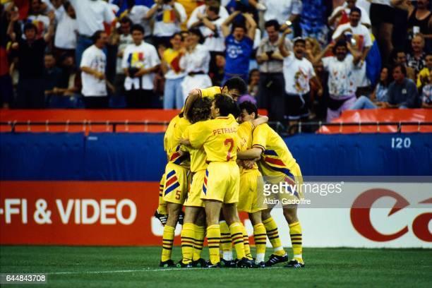 Joie Roumanie Roumanie / Suisse Coupe du Monde 1994 Photo Alain Gadoffre / Icon Sport