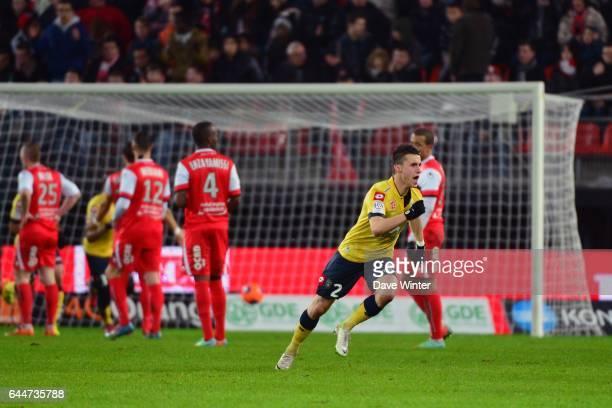 Joie Sebastien CORCHIA Valenciennes / Sochaux 26eme journee de Ligue 1 Photo Dave Winter / Icon Sport