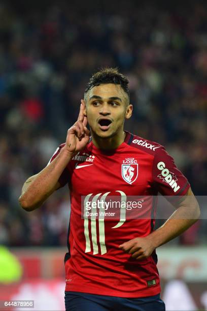 Joie Sofiane BOUFAL Lille / Montpellier 9eme journee de Ligue 1 Photo Dave Winter / Icon Sport