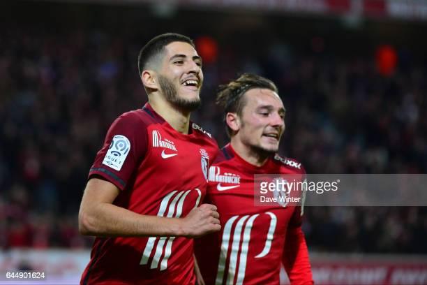Joie Yassine BENZIA / Eric BAUTHEAC Lille / Saint Etienne 16eme journee de Ligue 1 Photo Dave Winter / Icon Sport