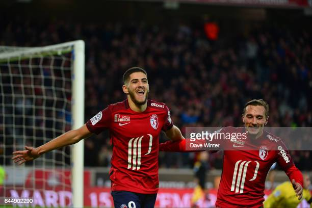Joie Yassine BENZIA / Eric BAUTHEAC Lille / Saint Etienne 16eme journee de Ligue 1 Photo Dave Winter / Icon Sport