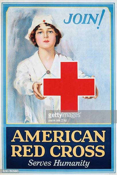 Join American Red Cross Serves Humanity Poster by Lawrence Wilbur