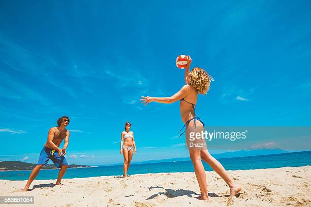 Join us and play beach volleyball on beach