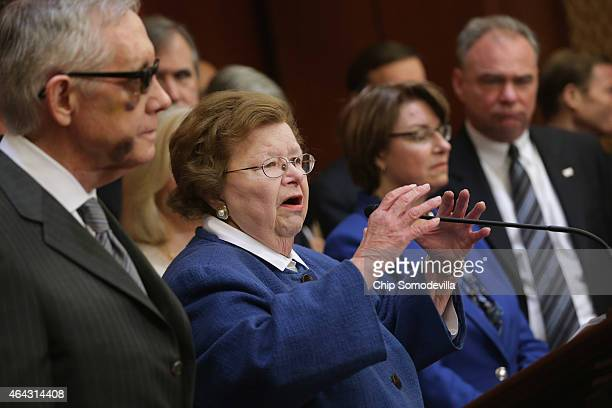 Joined by fellow Senate Democrats Appropriations Committee ranking member Sen Barbara Mikulski accuses Republican Senate leaders of manufacturing the...