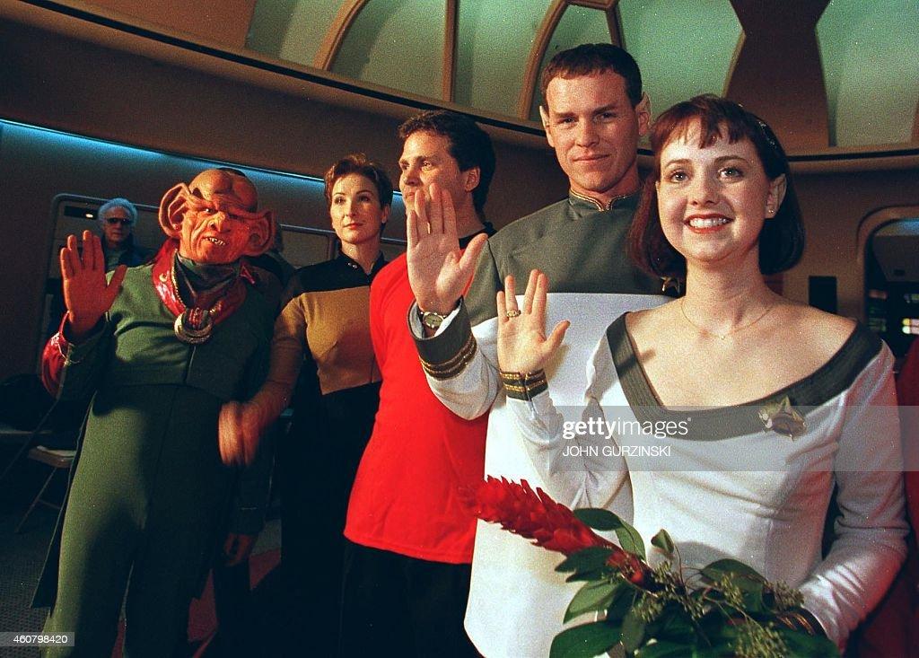 Joined by Ferengis, Klingons and Starfleet crew members, Star Trek ...