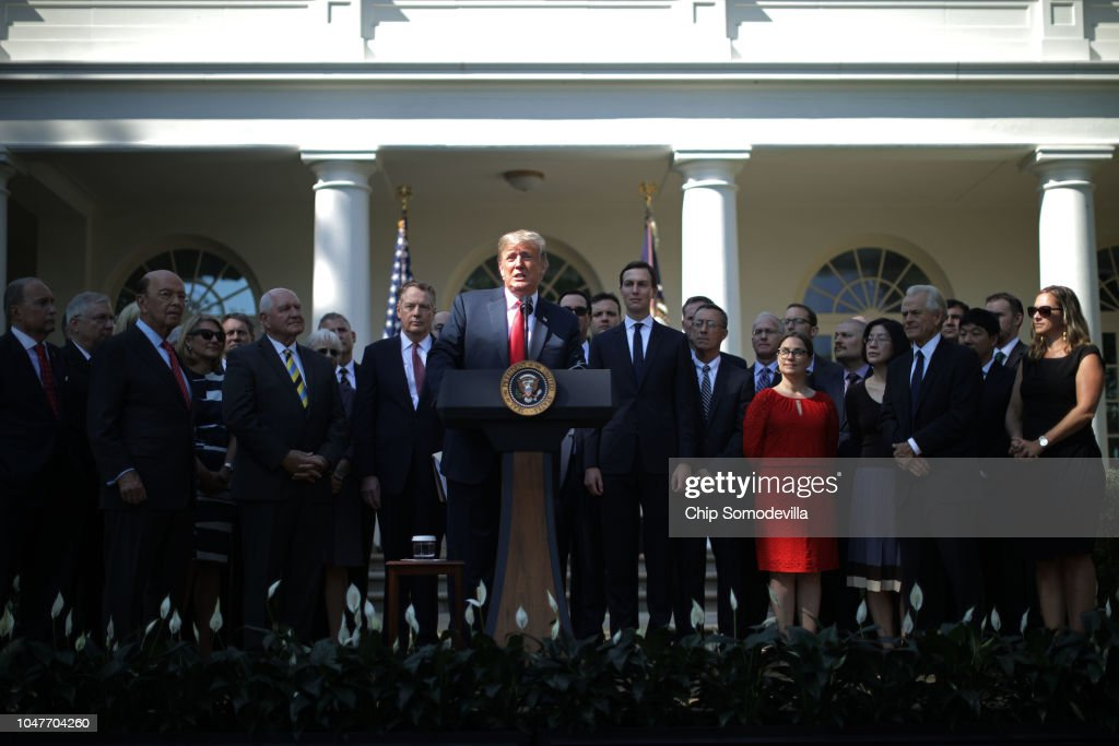 President Trump Holds News Conference To Discuss New US-Mexico-Canada Trade Deal : News Photo