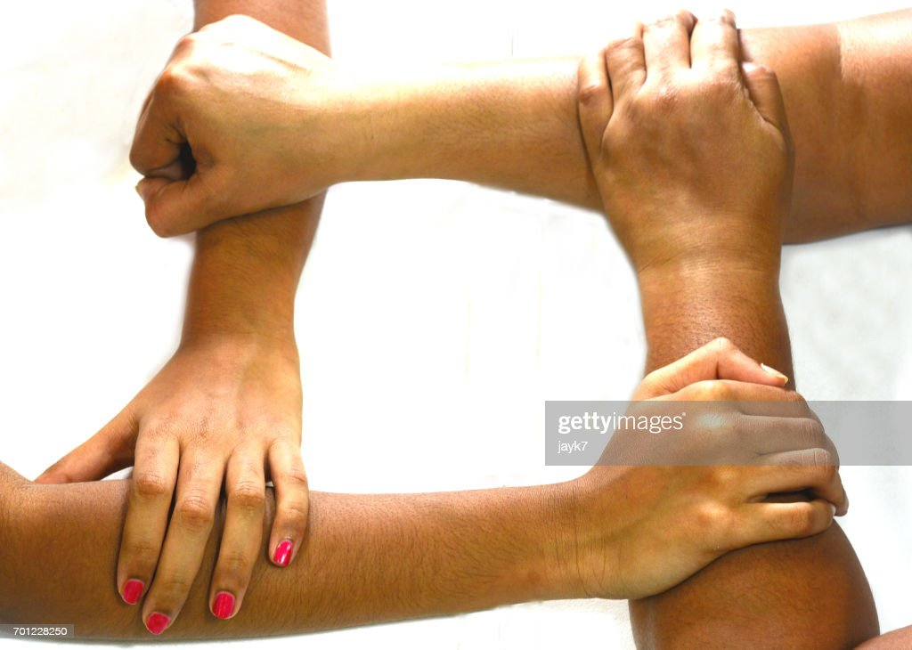 Joining Hands : Stock Photo
