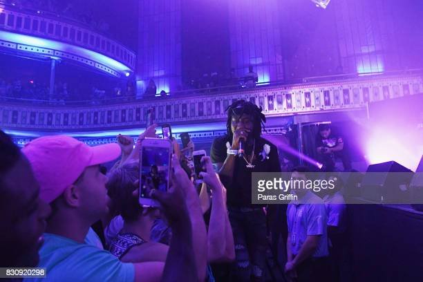 CAMP joins crowd during Spotify's RapCaviar Live at The Tabernacle on August 12 2017 in Atlanta Georgia