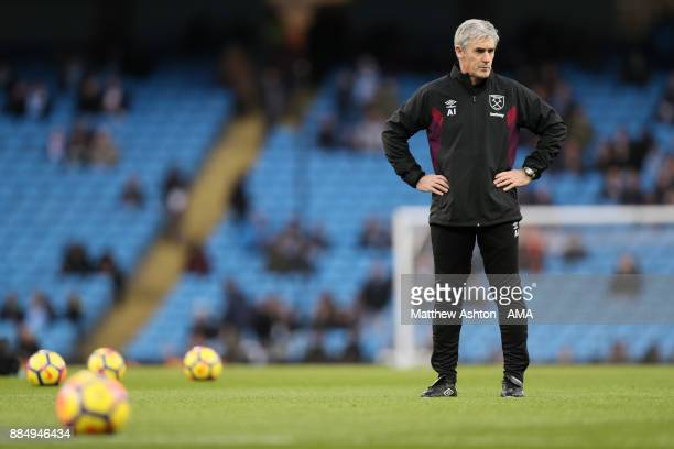 Joint Assistant Manager Alan Irvine of West Ham United during the Premier League match between Manchester City and West Ham United at Etihad Stadium...