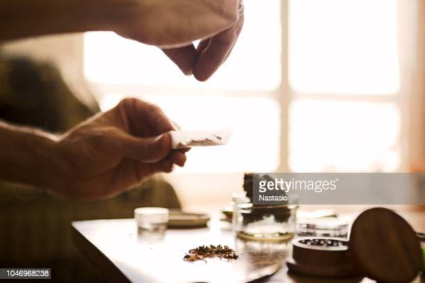 joint rolling - marijuana joint stock pictures, royalty-free photos & images