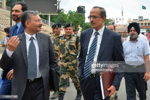 Joint Secretary of Indian Home Ministry SCL Das Ministry of External Affairs joint Secretary Deepak Mittal and Punjab Government PWD Secretary Hussan...