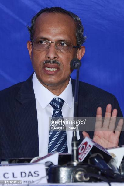 Joint Secretary of Indian Home Ministry SCL Das speaks to media persons after signing an agreement with Pakistan on the modalities for...