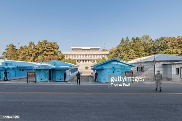 Joint Security Area DMZ conference buildings between South and North Korea 2017