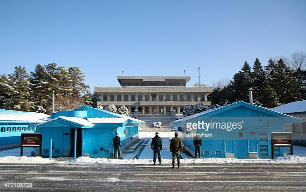 Joint Security Area during winter, at Panmunjom