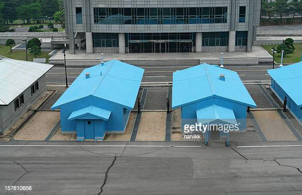 joint security area in panmunjom - korean demilitarized zone stock pictures, royalty-free photos & images