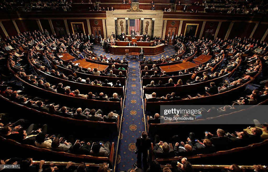 Joint Session Of Congress Tallies Electoral Votes : News Photo