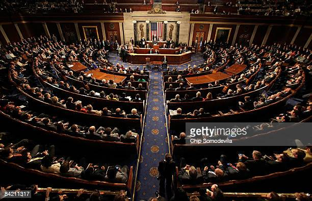 Joint session of Congress meets to count the Electoral College vote from the 2008 presidential election the House Chamber in the U.S. Capitol January...