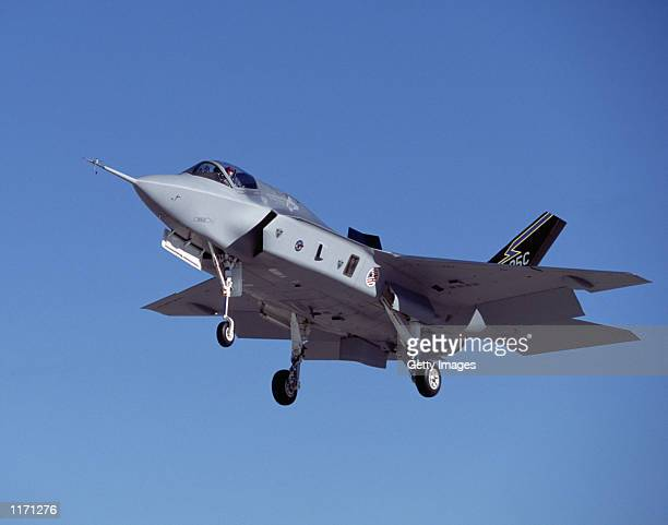 Joint Strike Fighter X35C in shown in flight in this company supplied photograph Lockheed Martin was awarded the largest contract in US history over...
