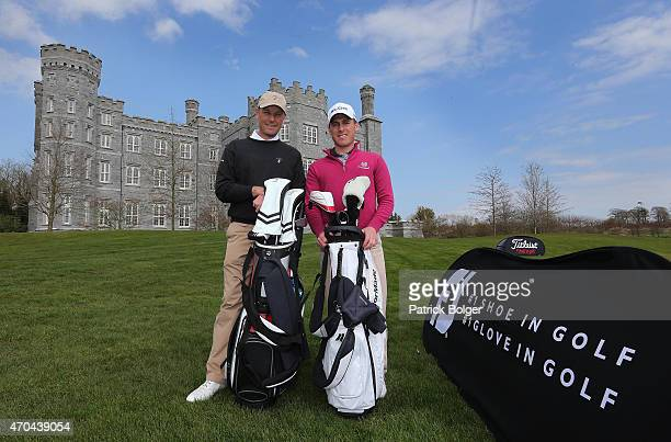 Joint winners David Higgins of Waterville Golf Links and Cian McNamara of Monkstown Golf Club after the Titleist FootJoy PGA Professional...